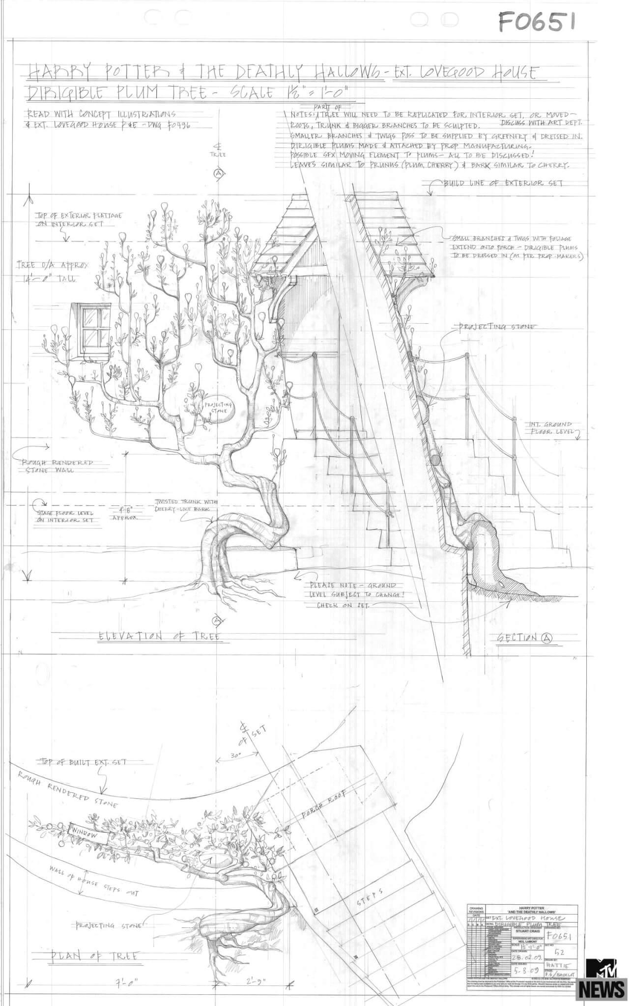 Plan Pour Lu0027arbre Aux Dirigeables De La Maison De Luna Lovegood