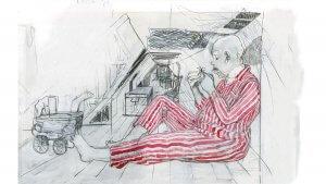 Les Animsaux Fantastiques illustrés par Olivia Lomenech Gill : une goule