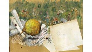 Les Animaux Fantastiques illustrés par Olivia Lomenech Gill : un vivet doré