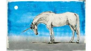 Les Animaux Fantastiques illustrés par Olivia Lomenech Gill : une licorne