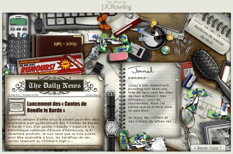L'ancien site de J.K. Rowling est de retour !