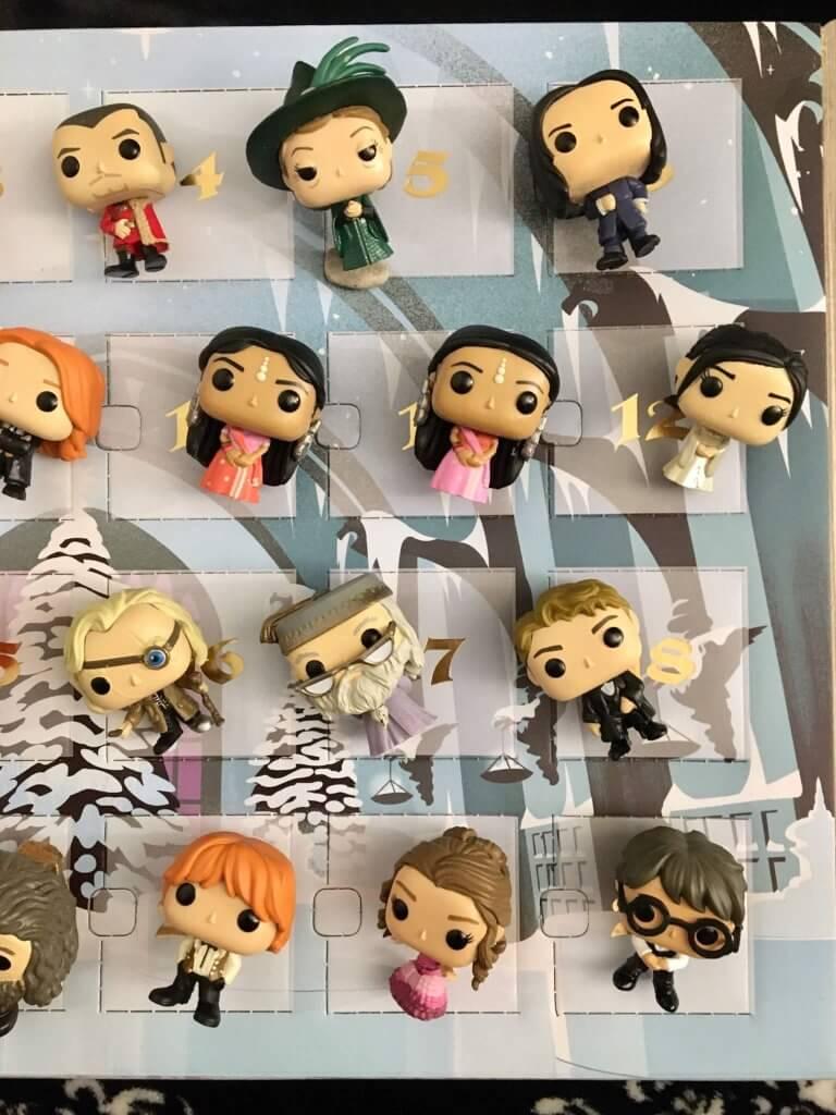 Calendrier de l'Avent Harry Potter Funko pop - détail 12 figurines 1/2