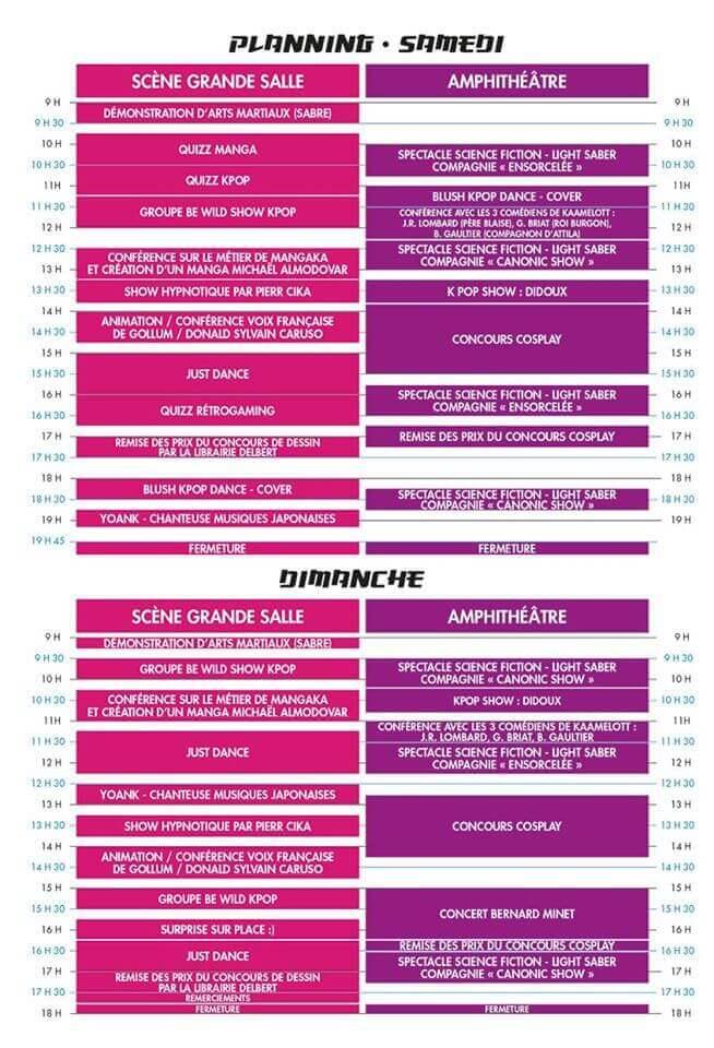 Planning du festival Mang'Agen