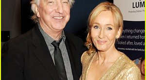 JK Rowling et Alan Rickman